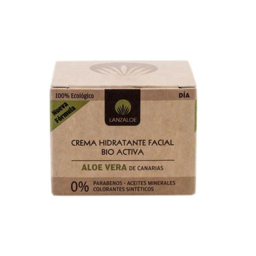 Cremă de față Hidratantă, Bio activă (zi) 100% Ecologică, Aloe Vera - Lanzaloe