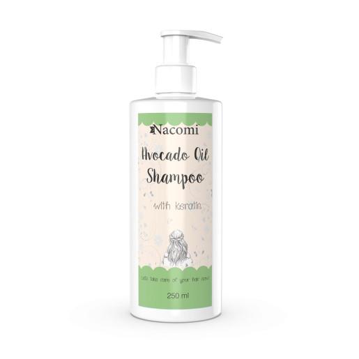 Șampon cu ulei de avocado și keratină - Nacomi