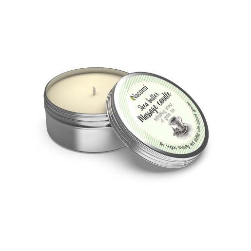 Lumânare de masaj cu unt de shea - aroma răcoritoare a ceaiului verde - Nacomi