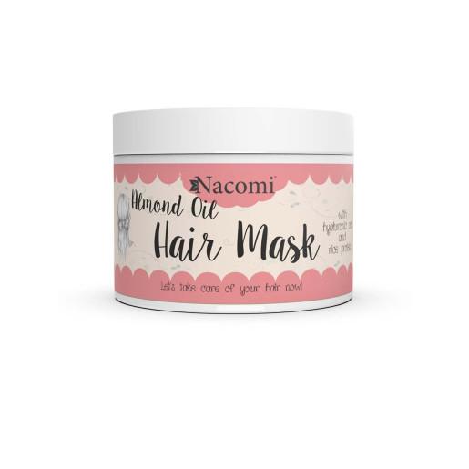 Mască de păr cu ulei de migdale, acid hialuronic și proteine de orez - Nacomi