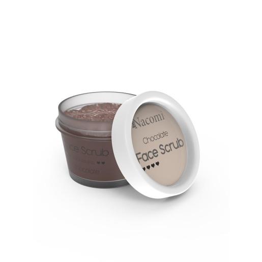 Scrub hrănitor pentru față și buze - ciocolată - Nacomi