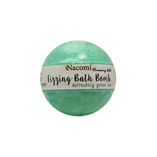 Bomboană efervescentă pentru baie - Ceai verde răcoritor (2 băi) - Nacomi