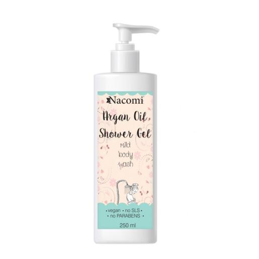 Gel de duș cu ulei de argan - Nacomi