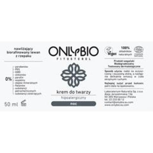 Cremă hipoalergenică de noapte pentru față (piele atopică, alergică, sensibilă) - Only Bio