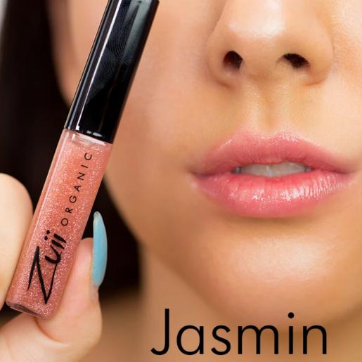Luciu organic pentru buze cu ulei de trandafiri, Jasmin