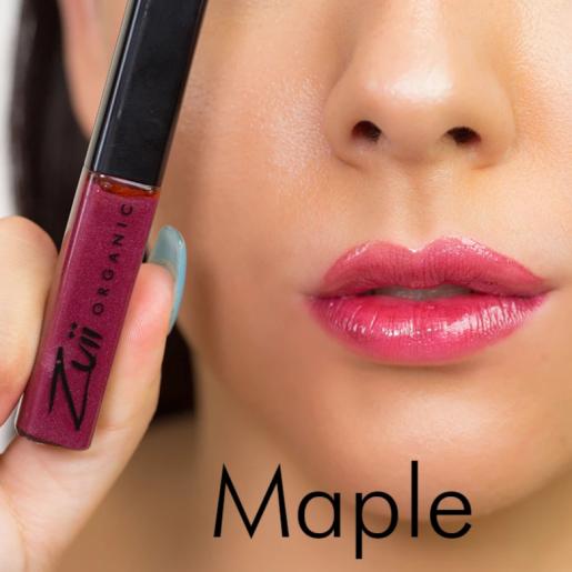 Luciu organic pentru buze cu ulei de trandafiri, Maple
