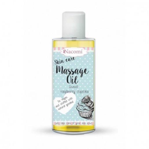 Ulei de masaj pentru îngrijirea pielii - Prajitură dulce cu zmeură - Nacomi