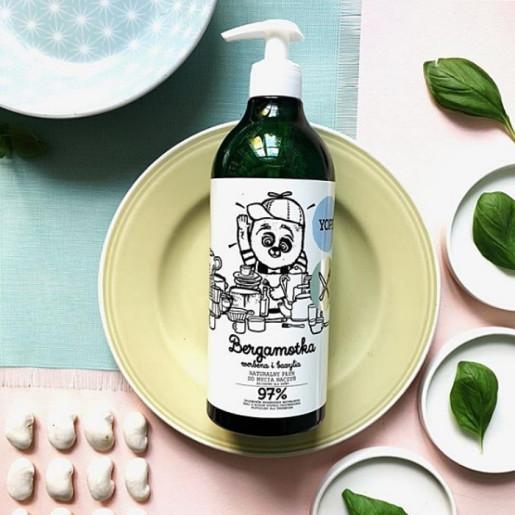 Soluție naturală pentru spălat vasele, cu bergamot, verbena și busuioc - YOPE