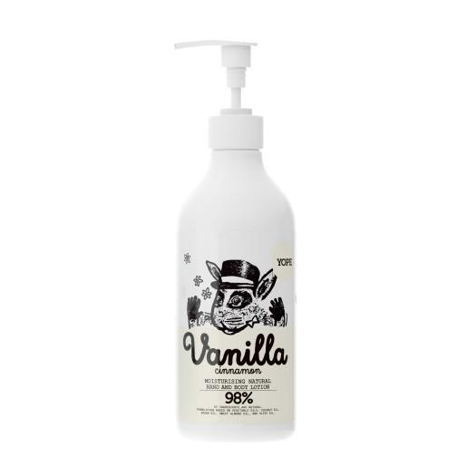 Loțiune naturală hidratantă pentru mâini și corp, cu vanilie și scorțișoară - YOPE