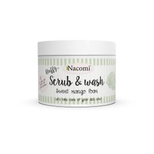 Scrub & gel de spălare pufos - Spumă dulce de mango - Nacomi