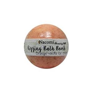 Bomboană efervescentă pentru baie - Înghetata de vanilie și portocală (2 băi) - Nacomi