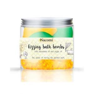 Set de bomboane efervescente pentru baie- ceai verde răcoritor și înghețată portocală-vanilie (4 bucăți) - Nacomi