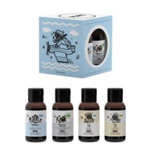 Set de călătorie (Loțiune de mâini, Gel de duș, Șampon, Balsam de păr) - 4 x 40ml - YOPE