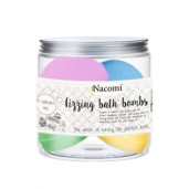 Set de bomboane efervescente pentru baie - mix de 4 culori (4 bucăți) - Nacomi