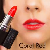Ruj organic cu ulei de trandafiri, Coral red