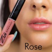 Luciu organic pentru buze cu ulei de trandafiri, Rose