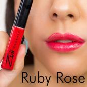 Luciu organic pentru buze cu ulei de trandafiri, Ruby Rose